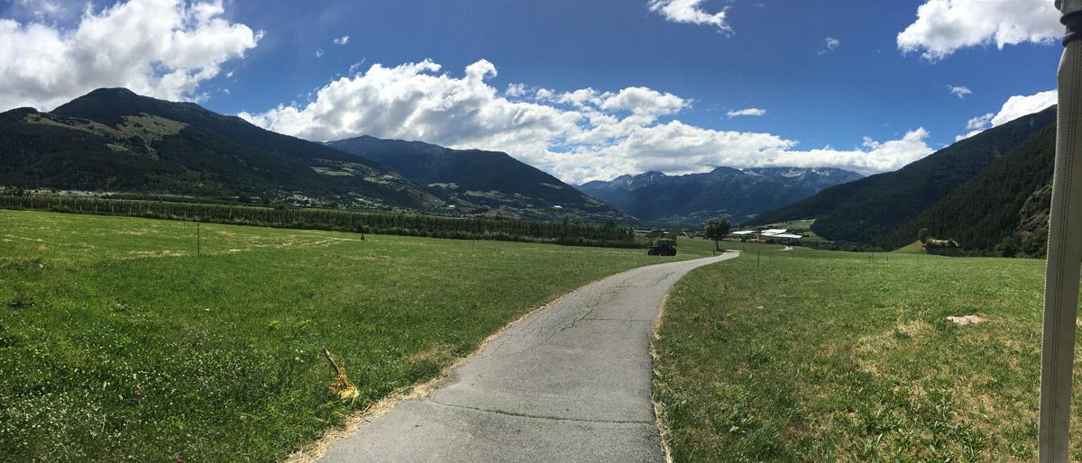 Blick ins Vinschgau Tal